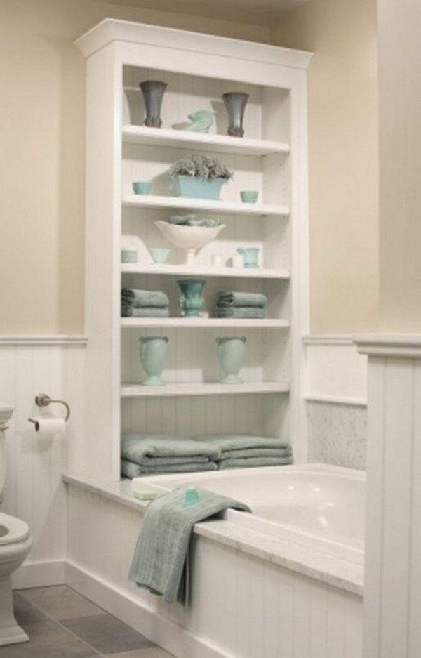 20 Neat And Functional Bathtub Surround Storage Ideas