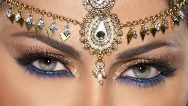 Haifa Wehbe Arap Makyajı Uygulaması - Özel günler için evde yapabileceğiniz Haifa Wehbe arap makyajı tekniği (Haifa Wehbe Arab Makeup Video)