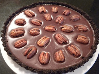 Mexican Chocolate Tart with Cinnamon Spiced Pecans