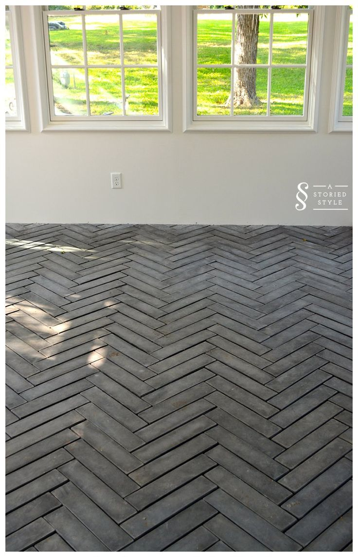 Beautiful herringbone 4″ x 16″ tiles from ArtoBrick from astoriedstyle.com