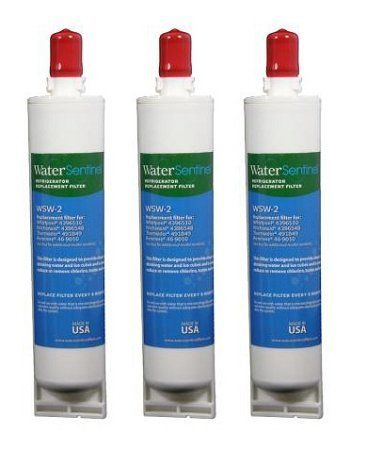 Kenmore 46-9010 Compatible Refrigerator Replacement Water Filter (3 pack) by Kenmore. $51.24. WSW-2 ADVANCED FILTRATION TECHNOLOGY. This WaterSentinel refrigerator water filter contains a compressed carbon block which provides tremendous capacity to remove and/or reduce impurities and sediment that may be present in your drinking water. The carbon block has millions of active sites on its surface and within the structure which can absorb impurities like a sponge, and...