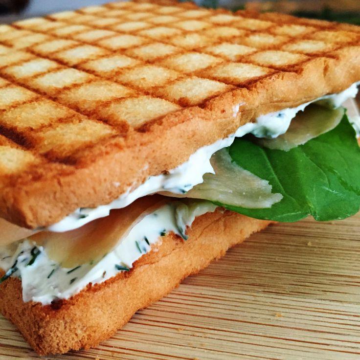 Jantinha de Hoje | Sanduiche de Salmão e Cream Cheese