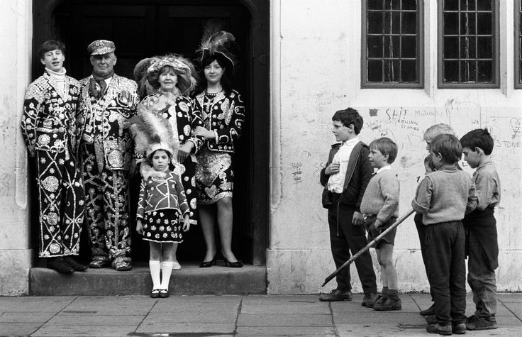 A Pearly Family in East London by Patrick Ward, 1977