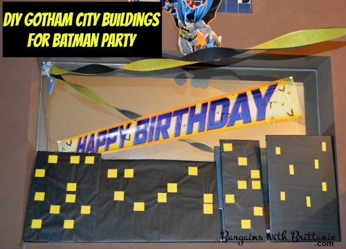 DIY Gotham City Buildings for Batman Party! Bargains with Brittanie