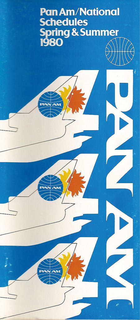 Pan Am / National Airlines Timetable (1980)