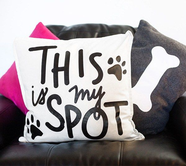 This Is My Spot Throw Pillow Made With Cricut Iron On By