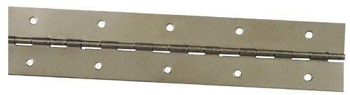 "Stanley 471640 Continuous Hinge, Bright Nickel, 1-1/2"" x 48"""