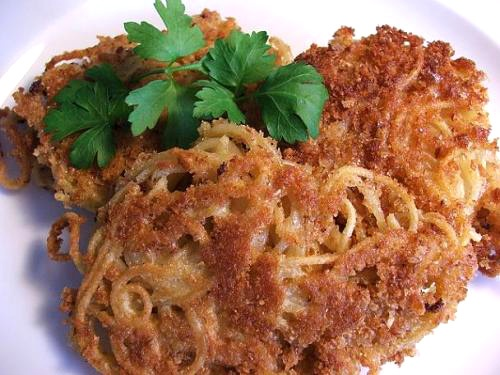 Leftover Pasta? Make Fried Spaghetti