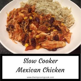 Slow Cooker Mexican Chicken pinnable image