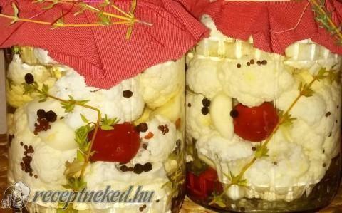 Kakukkfüves savanyított karfiol recept fotóval
