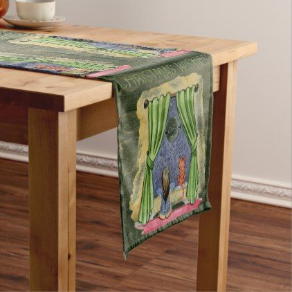 Christmas Wishes Short Table Runner - home gifts cool custom diy cyo