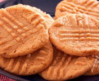 Sugar Free, Cholesterol free Peanut Butter Cookies