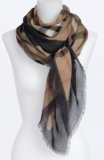 Burberry Oblong Scarf-*Hmmm. I remember the first time I walked into the Burberry store...and I sighed. Next bonus, I swanney. I am buying this scarf and wearing it 'til it shreds apart.*
