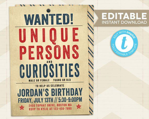 The Greatest Showman Birthday Invitation The Greatest Showman Etsy The Greatest Showman Birthday Invitations Circus Party
