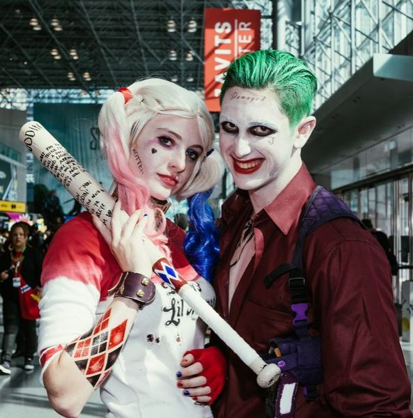 comic con 2015 60 photos of the best costumes - The Joker And Harley Quinn Halloween Costumes