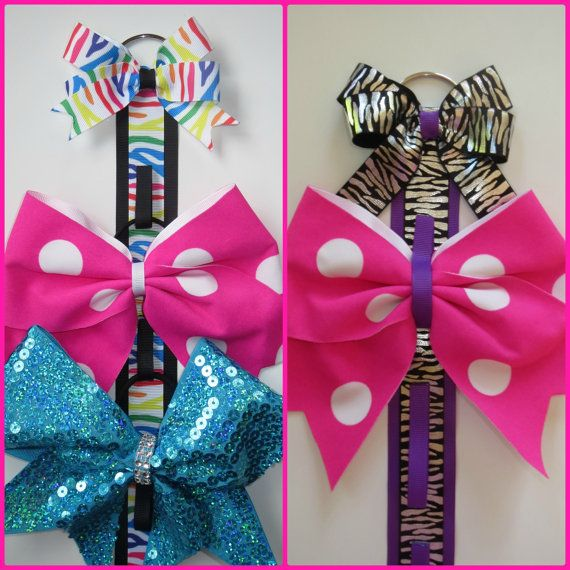 Cheer bow hanger / holder cheer bows bow by CheerStarAustralia