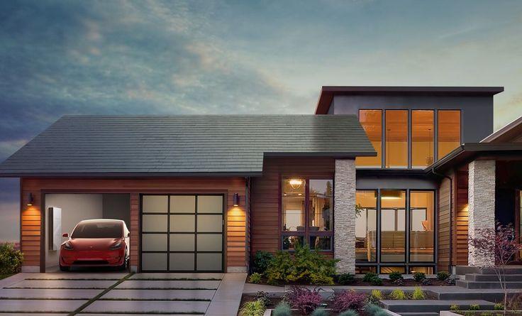 Odnawialne źródła energii. Transport, magazynowanie oraz produkcja energii to główne założenia firmy Tesla. Do oferty niebawem wejdą solarne dachy w postaci dachówek z wbudowanymi panelami solarnymi. To będzie rewolucja! #tesla #solarcity