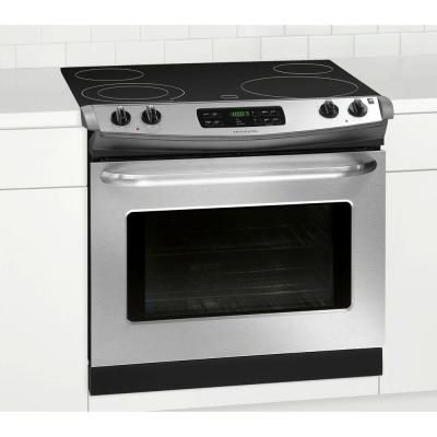 30 in. 4.6 cu. ft. Drop-In Electric Range with Self-Cleaning in Stainless Steel