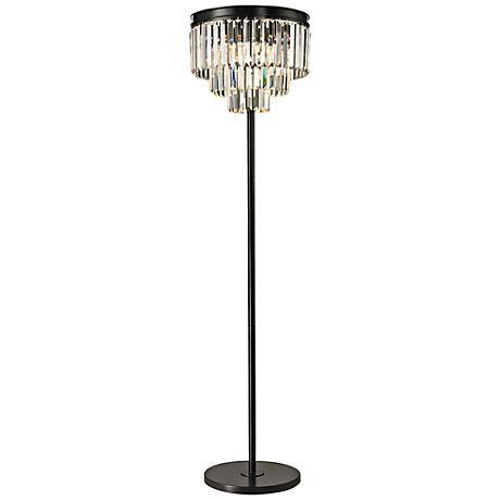 Best 25 chandelier floor lamp ideas on pinterest designer table dimond palatial crystal chandelier floor lamp style 7p985 mozeypictures Gallery