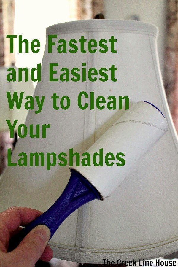 Dust accumulates on lamp shades quite easily -- here's a way to clean them! #dust #houses #clean