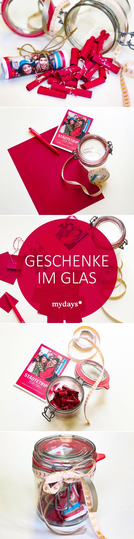 Geschenke im Glas – Verpacke Dein Erlebnis Geschenk kreativ & individuell