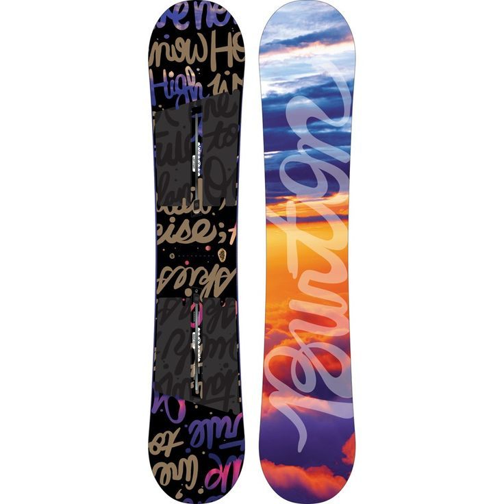"""2017 Burton Socialite Snowboard - Womens    For those who like it extra flexy; step up your game with the hardest charging """"soft"""" board on the mountain"""