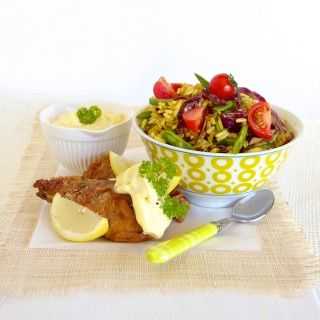 A healthy and delicious #recipe for spicy rice salad with crispy pilchards by Evelyn Thomas #freshlyblogged #picknpay