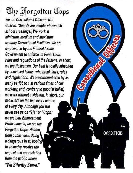 """Corrections Officers - The """"Forgotten"""" Cops"""