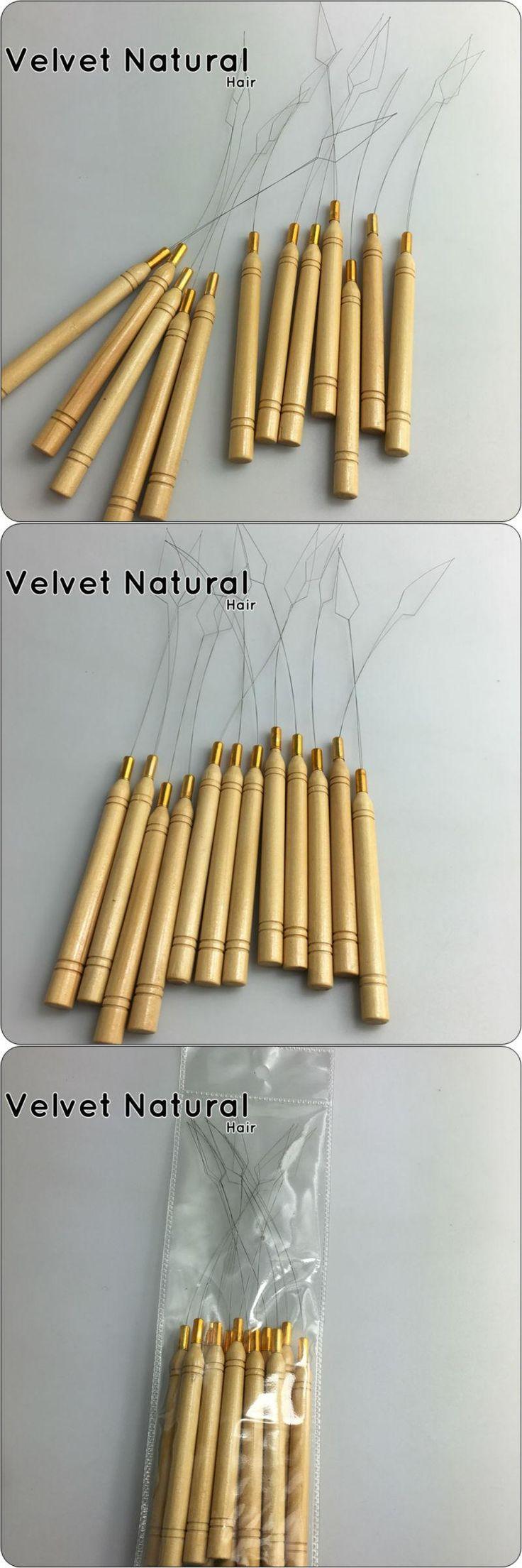 Professional Nano Ring Hair Extensions Loop Threader For Nano Ring Bead Hair Extensions Cold Fusion Hair