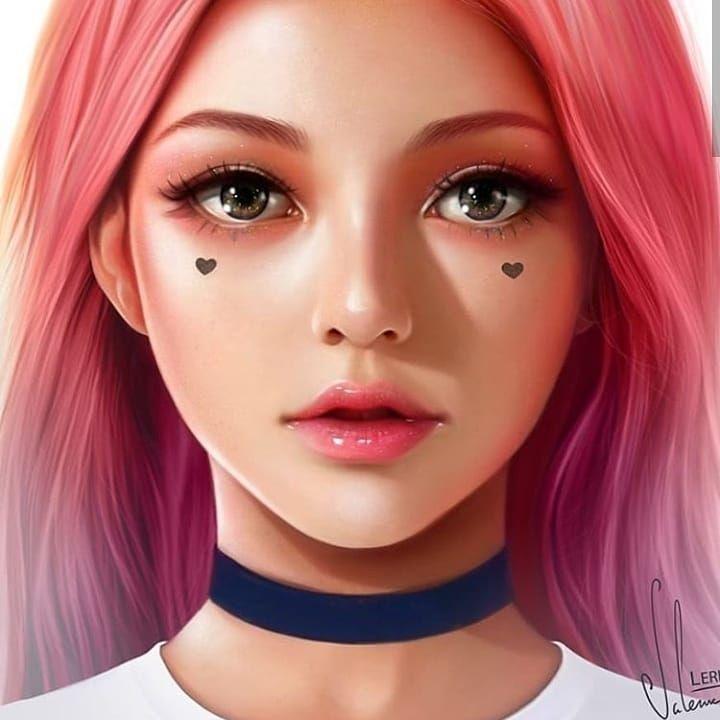 Image May Contain 1 Person Digital Art Anime Digital Art Girl Digital Portrait Art