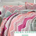 Laura Ashley Ainsley Pieced Cotton Reversible Quilt and Sham Separates   Overstock.com