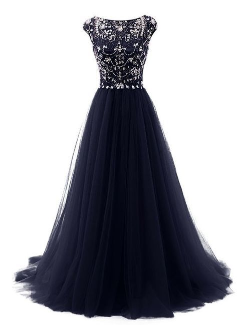 Fashion Navy Blue Cap Sleeves Ball Gown Prom Dresses,Back V Beads Crystals Prom Dress Evening Gowns Formal Women Dresses sold by Dresscomeon. Shop more products from Dresscomeon on Storenvy, the home of independent small businesses all over the world.