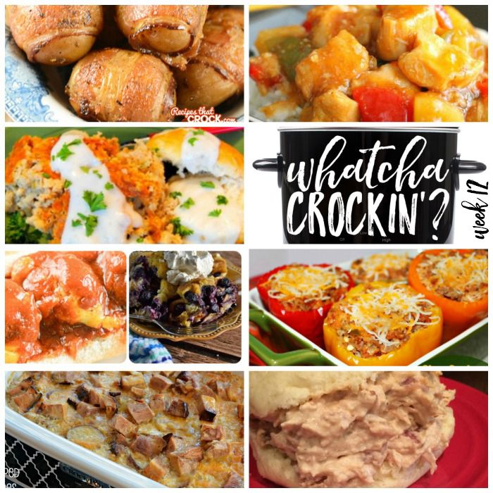 This week's Whatcha Crockin' crock pot recipes include 15 Kid Friendly Recipes, Crock Pot Fiesta Crack Chicken, Crock Pot Bacon Taters, Slow Cooker Sweet and Sour Chicken, Slow Cooker Country Breakfast with White Pepper Gravy and Biscuits, Crock Pot Scalloped Potatoes with Ham, Slow Cooker Sausage Stuffed Peppers and much more! Cris here! This isweek...Read More »