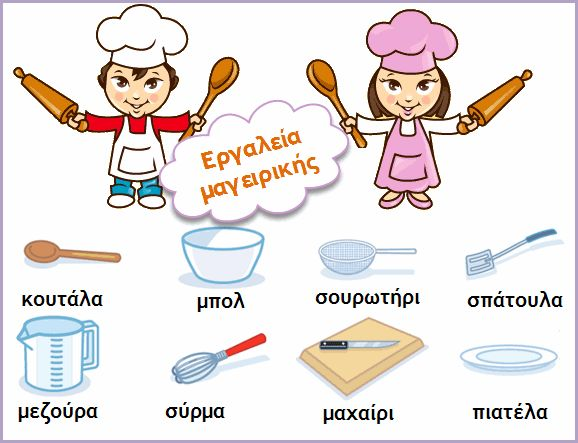 kitchen items in Greek - from mikapanteleon