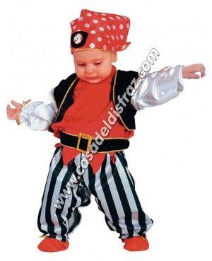 Disfraz de Pirata para Bebé. www.casadeldisfraz.com