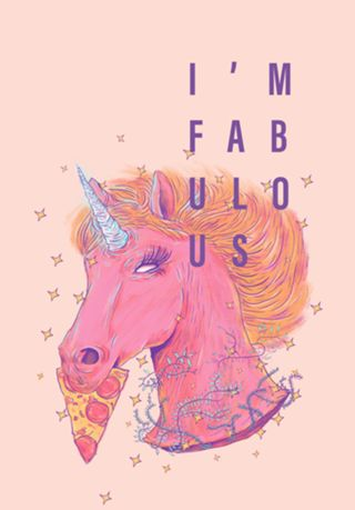 Poster Pizza Unicorn do Studio Giom por R$45,00