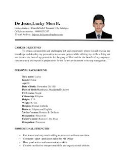 Example Of Resume Format For Ojt With Images Sample Resume Format Sample Resume Cover Letter Resume Format