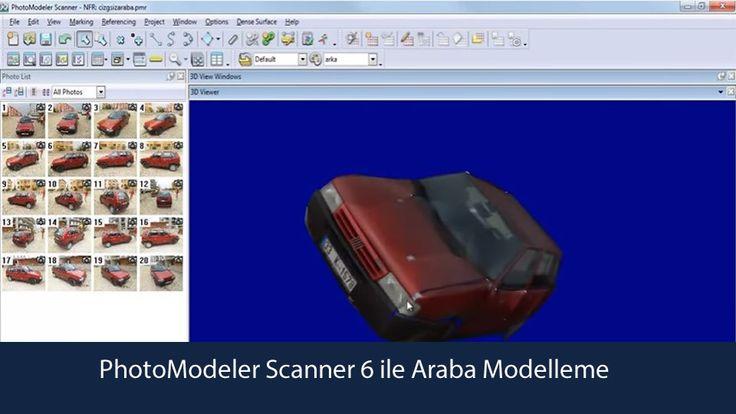 Photomodeler Scanner 6 ile Araba Modellemeyi anlatmaktadır. Ayrıca Selçuk üniversitesi öğrencilerine 4. sınıfta verilen Genel Fotogrametri uygulamasıdır