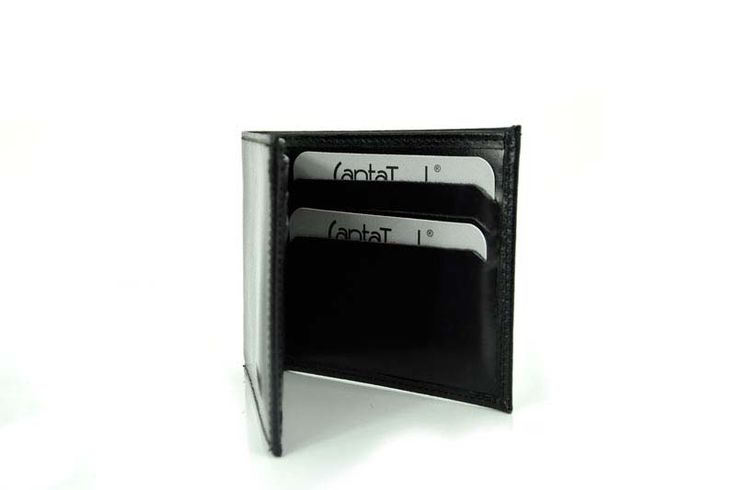 Black Colour Classic Design Genuine Leather Wallet