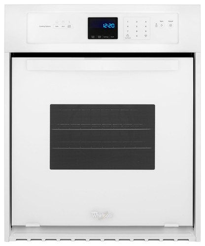 """Whirlpool - 24"""" Built-In Single Electric Wall Oven - White"""