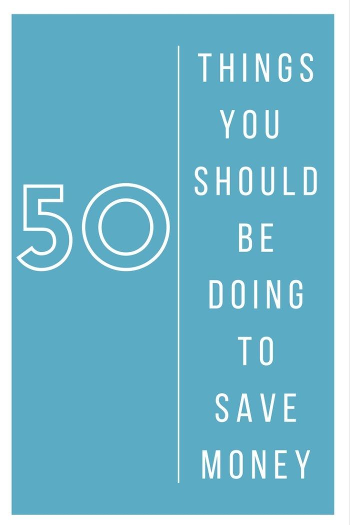 50 Things you should be doing to save money.  Frome meal planning to family budgeting and from saving on bills to being thrifty and frugal.  It's all here!