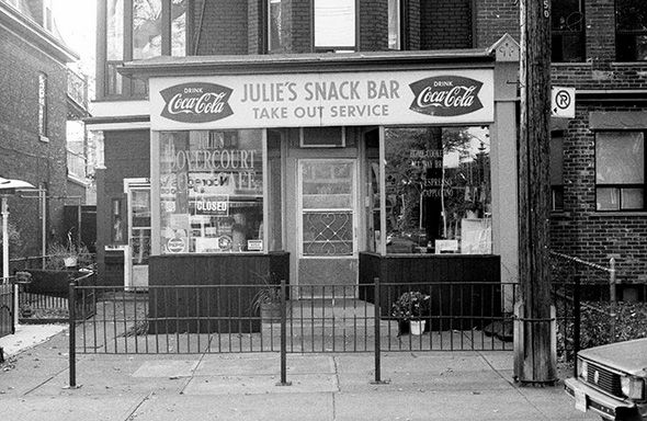 My family used to walk down the street to Julie's on Dovercourt Road for a hamburger and fries in the 70s.