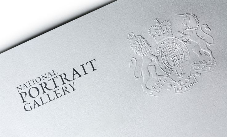 An intricate blind embossing for the National Portrait Gallery