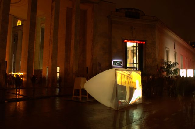 "The Modern Art of the City of Paris Museum invites Proust LU in two stages: - NUIT BLANCHE 2012 (6 October 2012). ""Presentation of the last eleven filmed Proust Lu (Sodom & Gomorrah) on the forecourt of the Museum of Modern Art.  