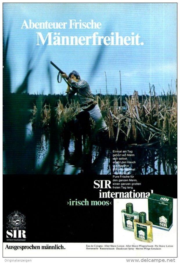 Original-Werbung/ Anzeige 1970 - 4711 SIR IRISCH MOOS / MOTIV JAGD - ca. 160 X 240 mm