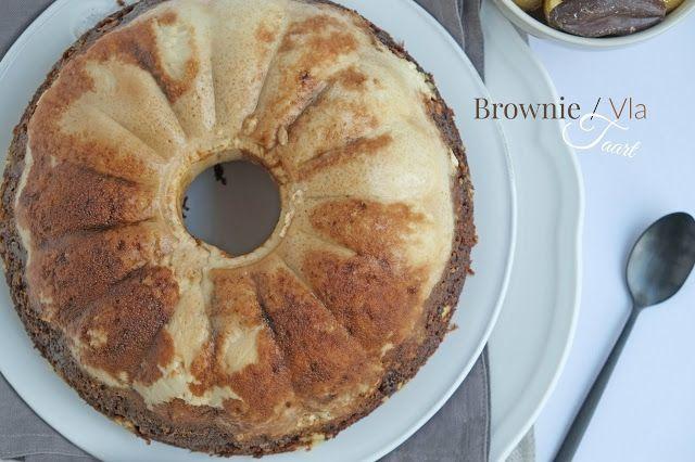 Brownie / Vla taart (Monchou recept)