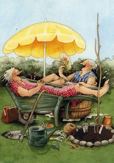 Gardening old ladies