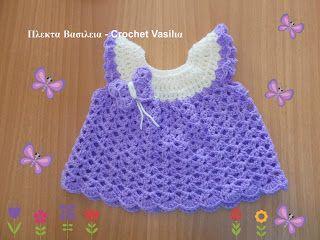 ΠΛΕΚΤΑ ΒΑΣΙΛΕΙΑ - CROCHET VASILIA : Ενα υπέροχο φορεματάκι για ένα βρεφάκι που περιμέν...