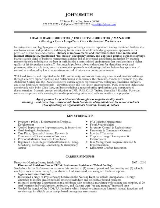 Click Here to Download this Health Care Director Resume Template! http://www.resumetemplates101.com/Executive-resume-templates/Template-45/