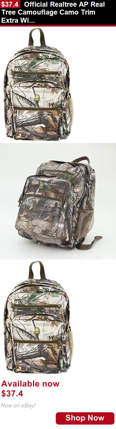 Bibs: Official Realtree Ap Real Tree Camouflage Camo Trim Extra Wide Backpack Bag... BUY IT NOW ONLY: $37.4